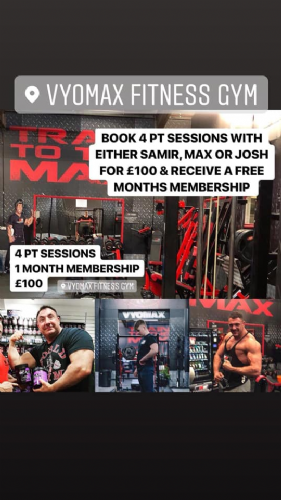 SPECIAL OFFER PT AND 1 MONTHS MEMBERSHIP
